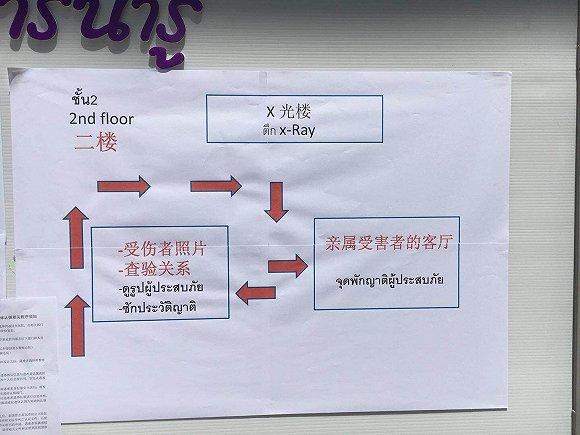普吉岛医院贴出为遇难者家属提供的询问指南 网络图片