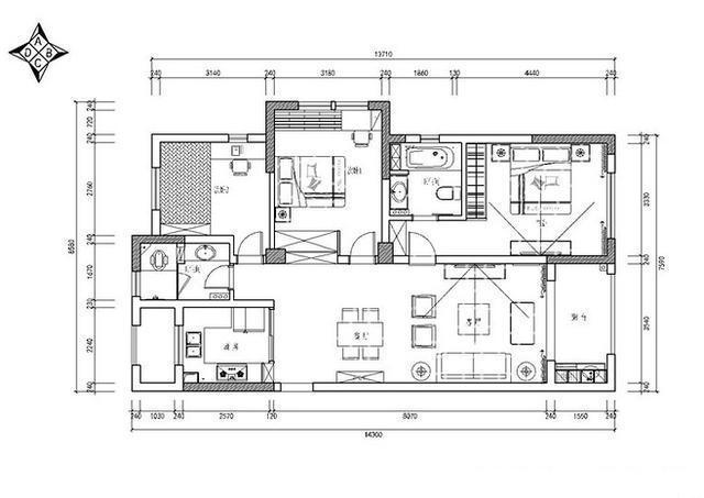 刚通风好的129平新房,电视背