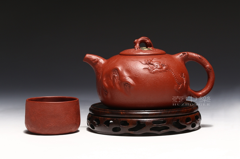 宜兴紫砂壶-张伟军紫砂壶-龙供春-趣淘壶