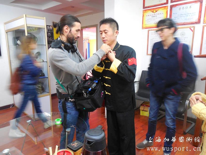意大利探祖寻根剧组专访上海加华国术馆邵长华老师