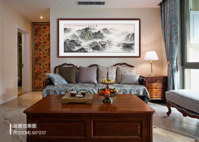 佳作欣赏:易从网推荐目前流行的客厅沙发墙挂画