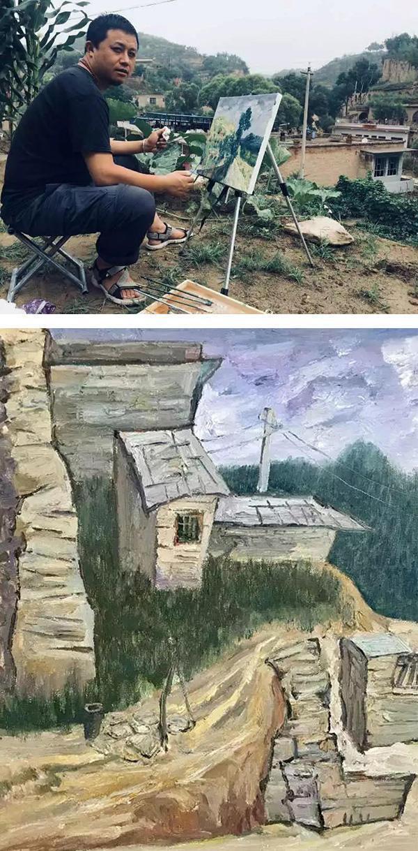 陕西人民书画院油画院采风写生团赴米脂写生基地写生活动圆满结束|书画动态-中国书画家网