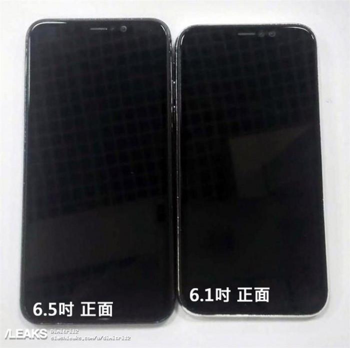 玻璃后盖+窄边框刘海屏:6.5与6.1英寸iPhone新品真机曝光