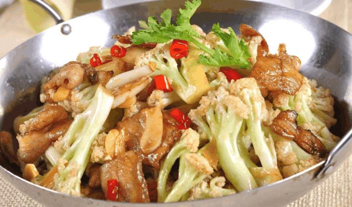 每日简单美食, 干锅菜花, 在家也能做出酒店的档次