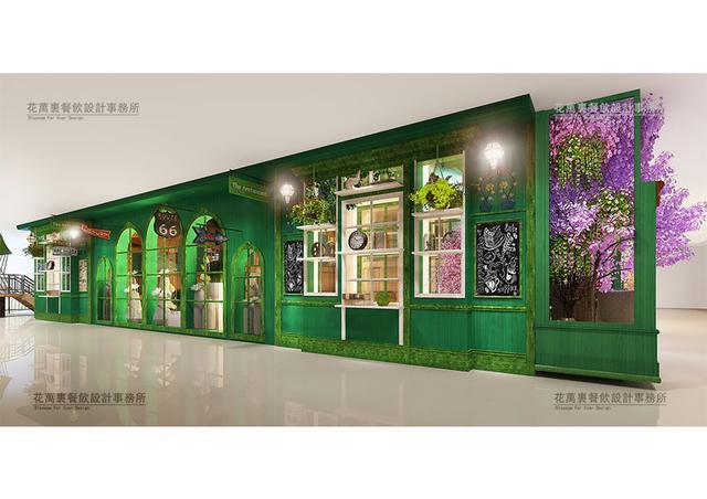 花万里出品,西宁书花写茶餐厅唯美设计|花万里深圳餐饮设计