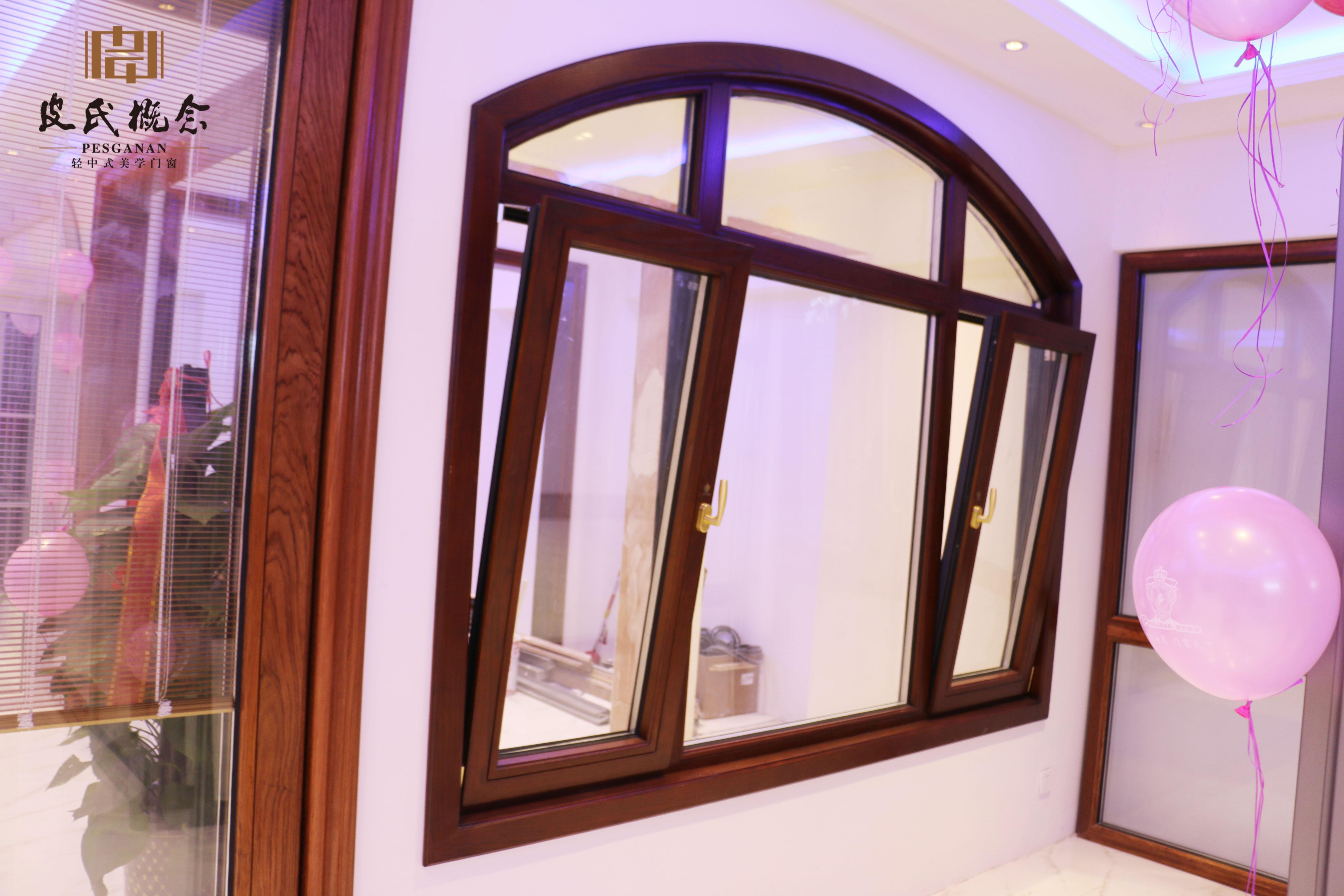 铝木门窗防水效果 断桥铝木窗