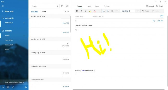 Win10 Mail更新:在邮件中可尽情涂鸦的照片
