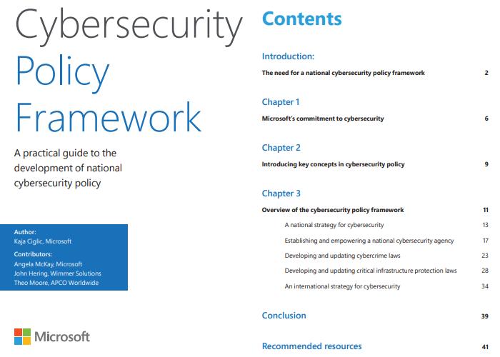 """微软宣布面向决策者的""""网络安全政策框架""""白皮书的照片 - 2"""