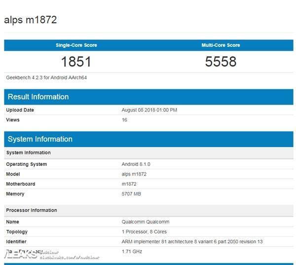 魅族骁龙710新机性能曝光:配备6GB内存的照片 - 2