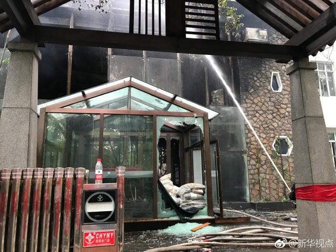 哈尔滨一温泉酒店发生火灾 已造成19人死亡