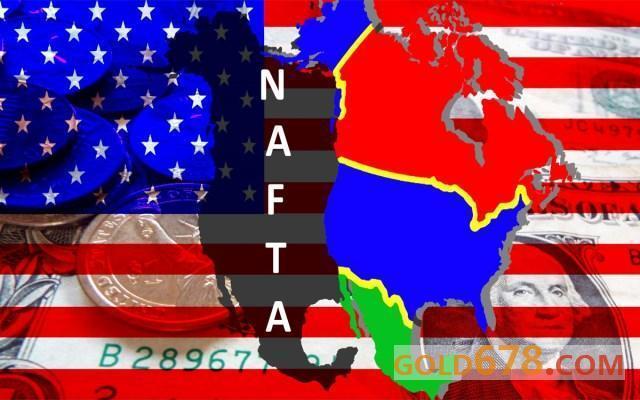 北美自贸协定新生在即黄金加紧补血,但背后仍不止一条恶狼