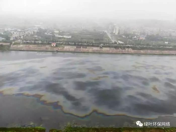 可恨!湘乡某企业向湘江汇入支流倾倒大量工业油