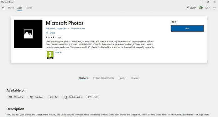 Win10版微软Photos获硬件加速支持功能的照片 - 1