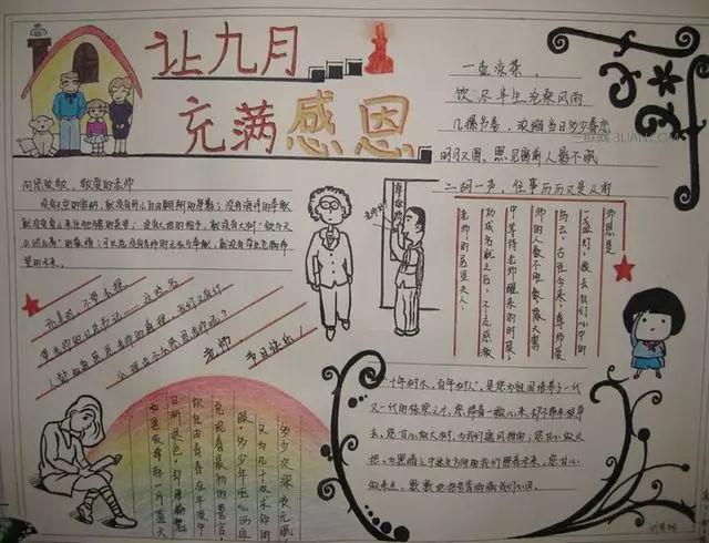 教师节手抄报�谌� 教师节黑板报文字