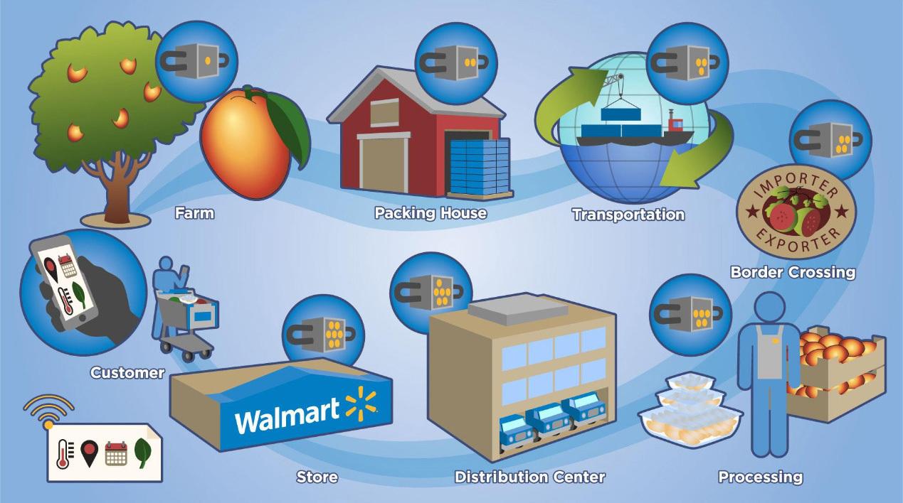 西湾区块链:沃尔玛将对蔬菜供应商使用区块链技术 实现产品...