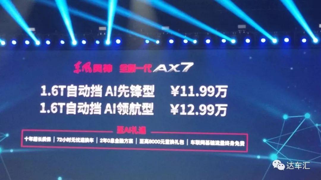脱胎换骨 全新风神AX711.99万元起售