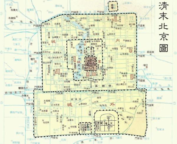 清朝时期的北京城是什么样子的?_内城