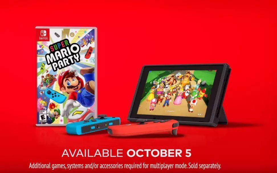 NS遊戲《超級馬力歐派對》10月5日發售,美版廣告公開