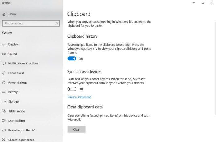 如何在Win10十月更新中配置云剪贴板功能的照片 - 2