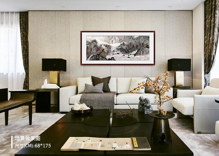 客厅沙发背景装饰画 好的装饰画为客厅增光添彩
