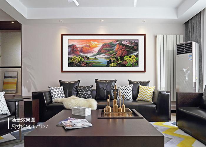 客厅墙面装饰画 山水画让你家不再干燥乏味