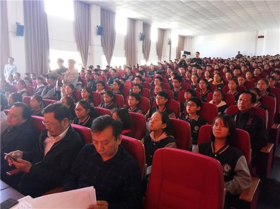 """""""我们走过40年""""讴歌改革开放40年大型诗歌朗诵会在盱眙县第二中学隆重举行"""