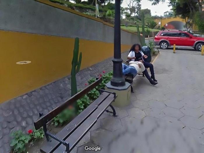 男子上谷歌街景服务意外发现自己被绿五年多的照片 - 2
