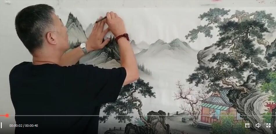 当代实力派画家王宁古意山水画作品欣赏 尽显静气、清气、古气和文气