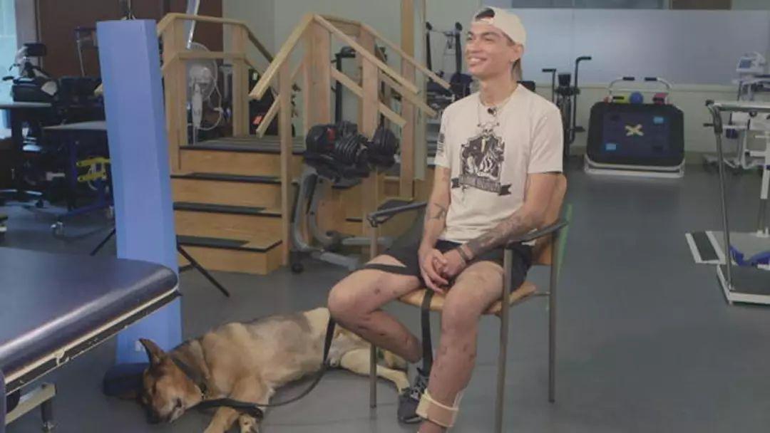 美国遭遇炸弹袭击,8岁的军犬断腿后,仍死守士兵