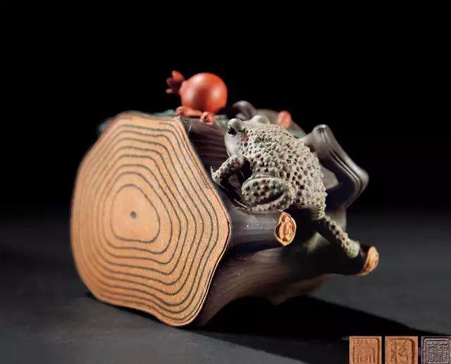 蒋蓉 石榴树蛙壶