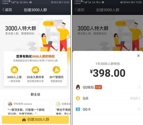 QQ上线3000人群聊功能 网友:QQ能赚钱是真的的照片 - 2