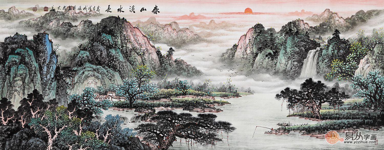 张利田园山水画欣赏|构图大气 极富诗情画意