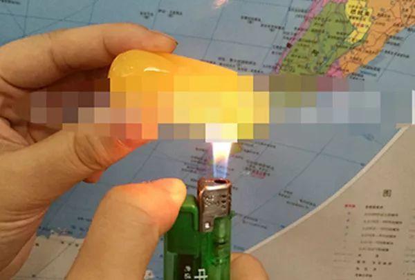 琥珀鉴定鉴别-火烧法
