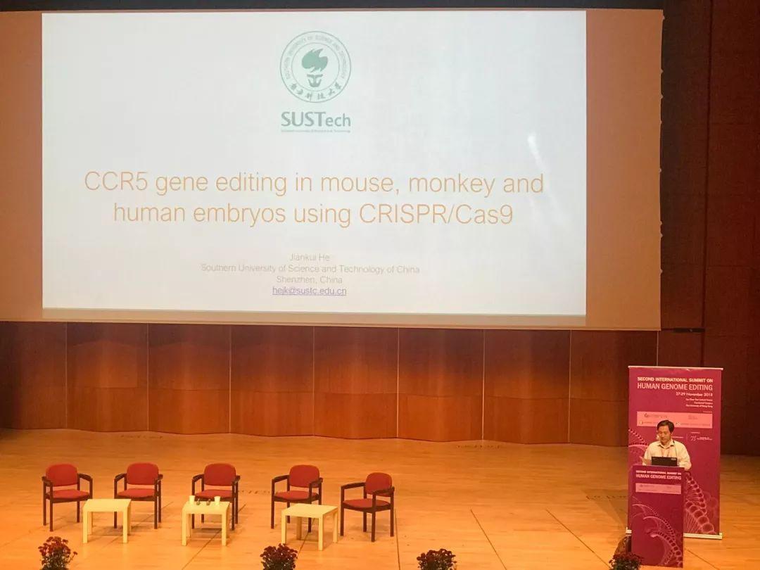 贺建奎现身基因编辑峰会 未回应法律与伦理问题的照片 - 3