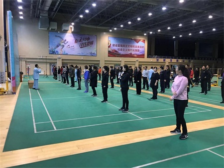 """全民健康、共建共享--威海环翠区成功举办国标""""八段锦""""培训"""
