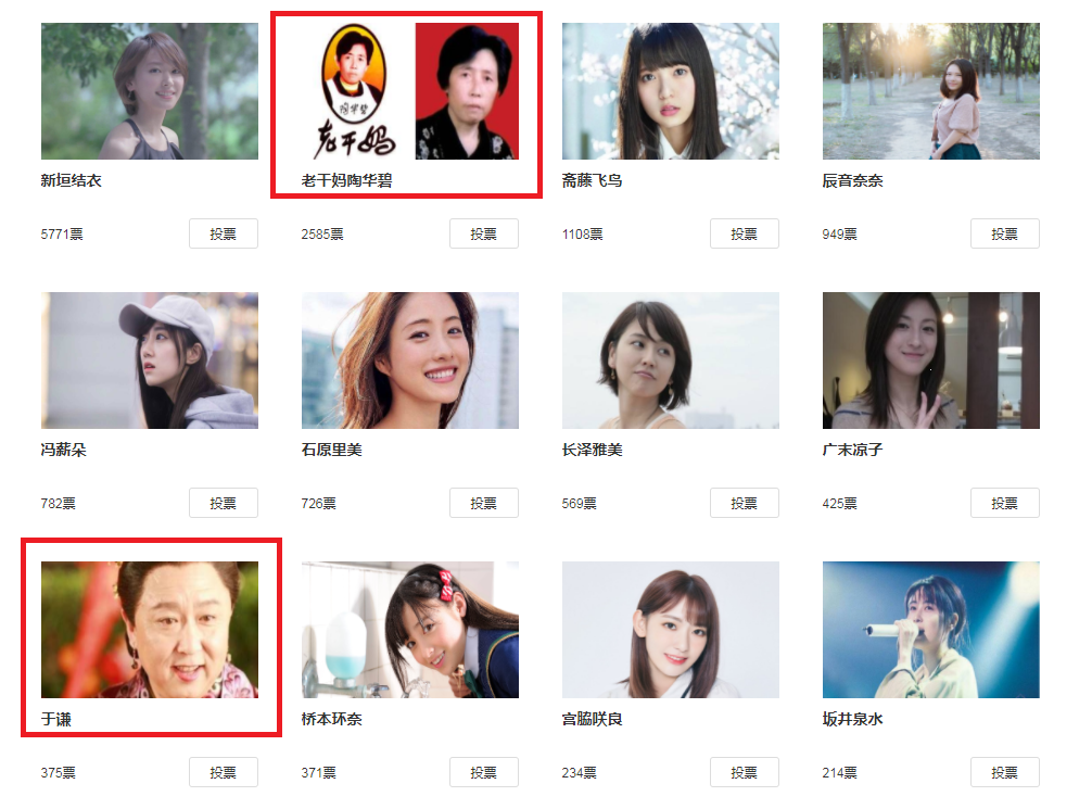 网友评选老婆女星,新垣结衣榜首,老干妈杀入重围的照片 - 6
