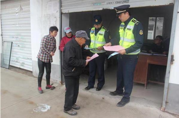 京沪支队送法下乡从一堂涉路法律宣讲课开始