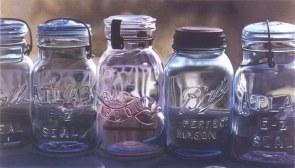 美国超写实画家Steve Smulka专画透明玻璃瓶油画作品赏析