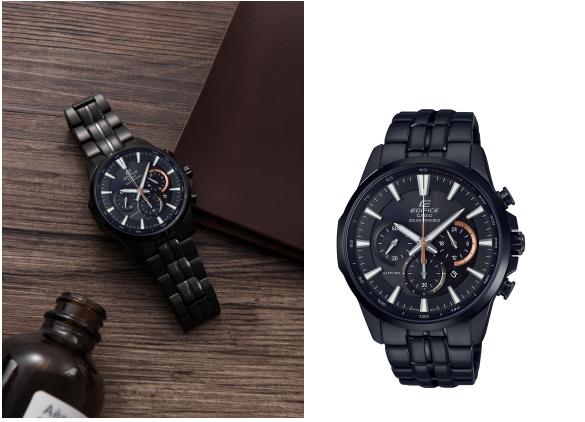 挑战黑色摩登触觉 EDIFICE黑色IP涂层系列无缝衔接商务与时尚