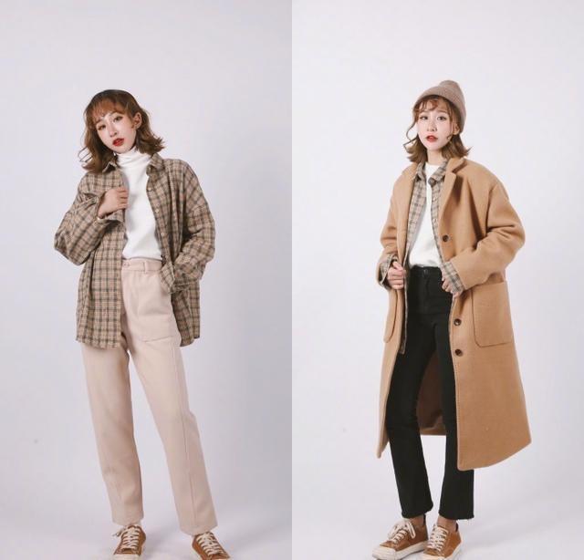 冬季女性大衣搭配,针织衫内搭保暖(图13)