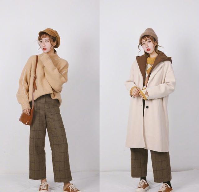 冬季女性大衣搭配,针织衫内搭保暖(图12)