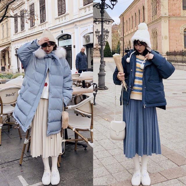 冬季女性大衣搭配,针织衫内搭保暖(图10)