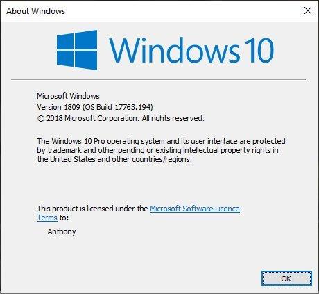 Win10 Build 17763.194发布:修复WMP进度条问题的照片 - 3