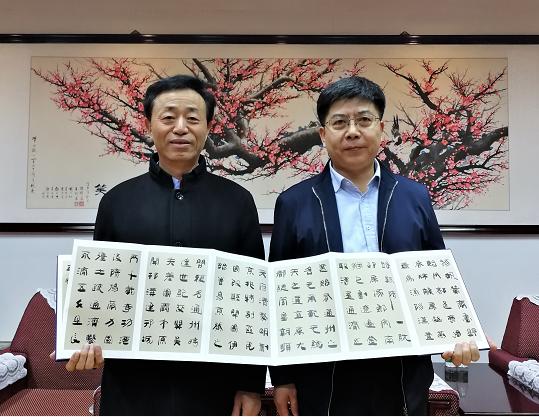 著名书法家孙敦秀做客潞河中学谈简牍文化