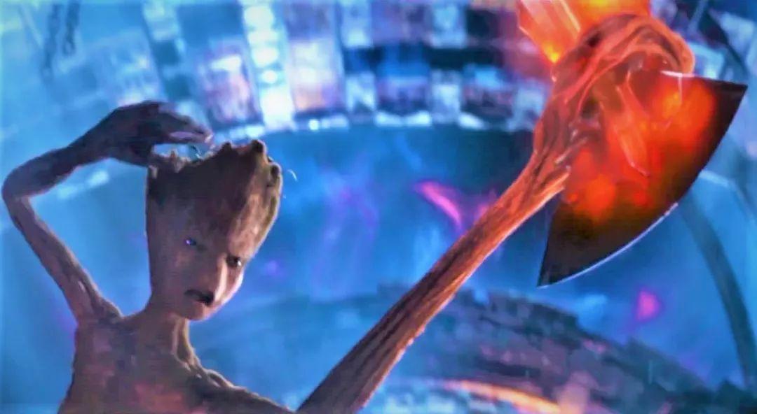 驚奇隊長自信能拿起來雷神之錘,格魯特拿起來暴風戰斧的真正原因