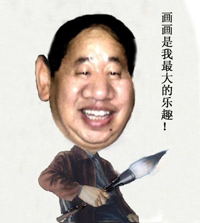 """画家王春晖为中国著名企业家""""造像"""",媒体人为他赋诗"""
