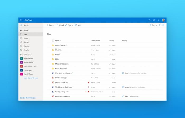 微软OneDrive线上版将很快获得Fluent Design设计改造的照片 - 2