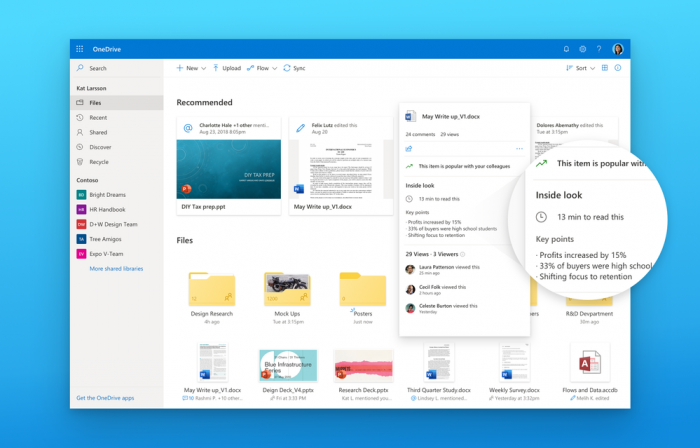微软OneDrive线上版将很快获得Fluent Design设计改造的照片 - 1