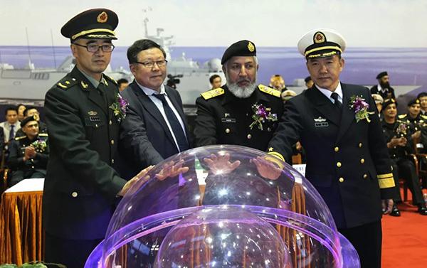 中国出口巴基斯坦新型护卫舰在中船集团开工