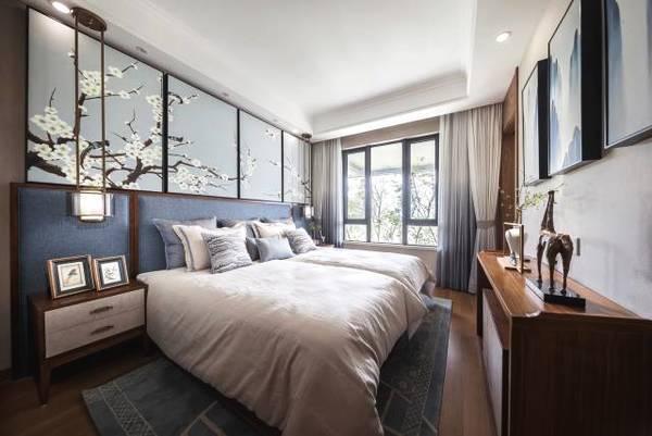 新中式卧室门窗